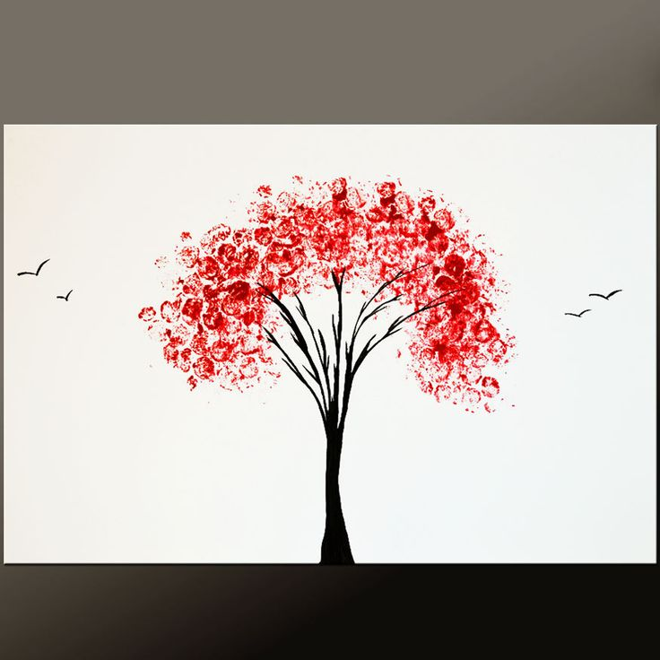 abstract tree paintings   Request a custom order and have something made just for you.