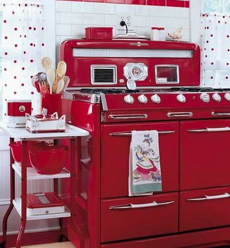 Looks like a 1950's kitchen, love this for a Coke a cola kitchen