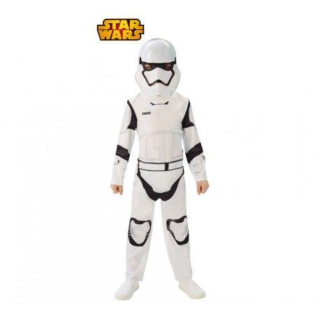 Haz que tu niño forme parte del Imperio Galáctico con este fantástico disfraz infantil de StormTrooper con licencia oficial. No hay mejor forma de vivir la saga Star Wars para los peques que convertirse en un auténtico Soldado Imperial.  Incluye: Mono de una pieza y máscara.  http://www.disfracessimon.com/disfraces-infantiles-bebe-nino-nina/4077-disfraz-stormtrooper-nino.html