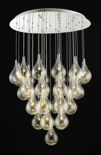 Features 36L chrome and glass led pendant  Dimensions D:680 x H:1000  Globe 36 x 1W led (included)  Fiorentino Imports welcomes you.  Since establishment in 1979, by Federico Fiorentino, Fiorentino Imports has built an enviable reputation with