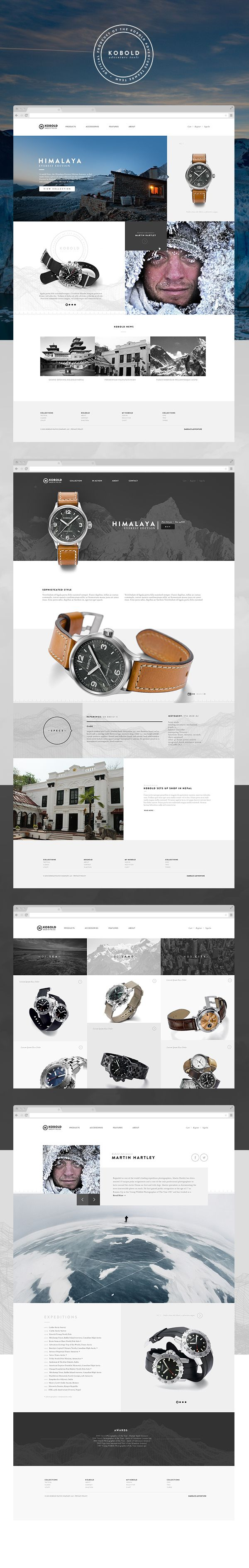 Kobold Watches 2013 by Douglas Hughmanick, via Behance
