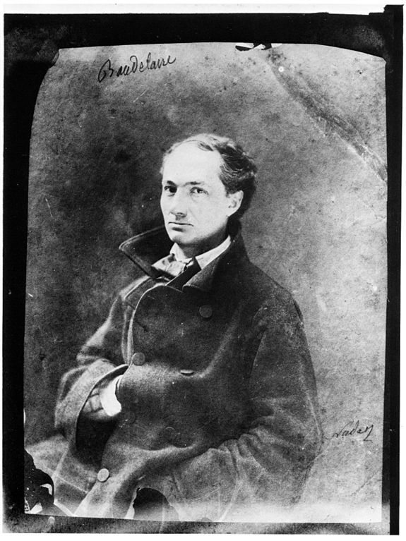 Photographs of the famous by Felix Nadar - Charles Baudelaire (1855)