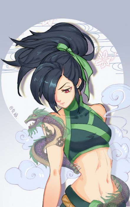 Akali Rework by 灰狼赤 HD Wallpaper Background Fan Art Artwork League of  Legends lol