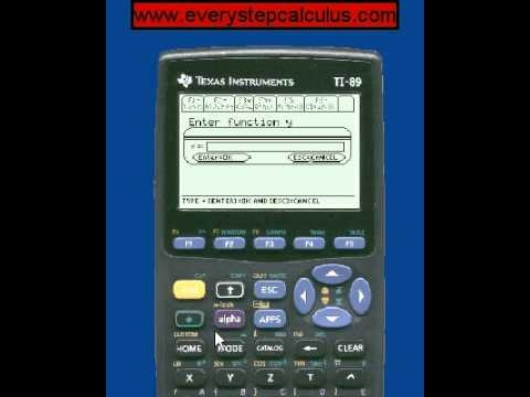how to solve equations on ti 89