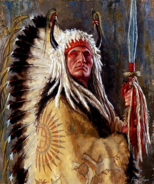 Black Rock, A Two Kettle Chief, Lakota by James Ayers