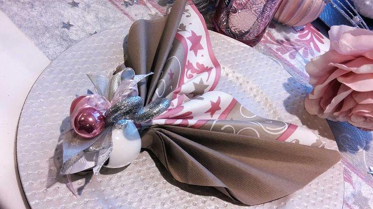 Blush fever servet vouwen pliage serviette no l et for Decoration table nouvel an