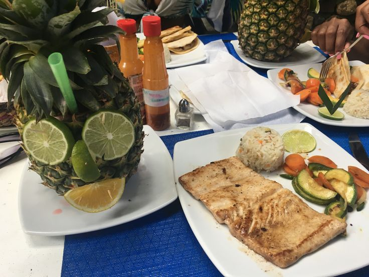 Tasty lunch at El Tuito!  The fish is caught onsite. YUM!