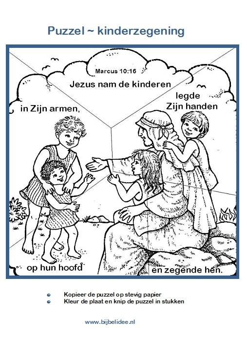 De kinderzegening - www,bijbelidee.nl
