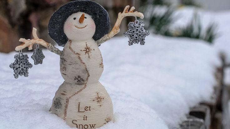 mood, snow, snowflakes, snowman