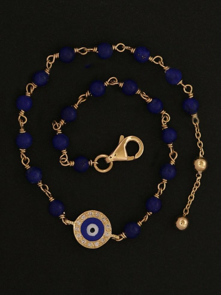 Lapis Evil Eye Bracelet at London Jewelers.