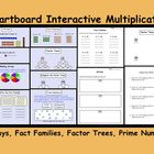 This is a Smart Notebook File with Multiplication lessons on Arrays, Fact Families, Factor Trees and Prime Numbers.  Included are 4 printable works...