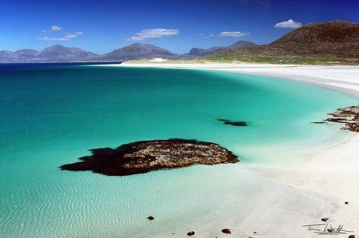 The Caribbean? | 14 Places You'd Never Believe Were In Scotland - West coast of South Harris in the Outer Hebrides.  Image taken by Scottish photographer Tim Winterburn.