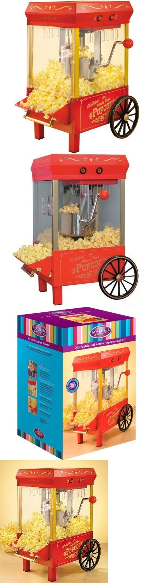 Popcorn Poppers 66752: 10 Cup Retro Countertop Popcorn Machine, Old Fashion Home Kettle Pop Corn Maker -> BUY IT NOW ONLY: $49.95 on eBay!