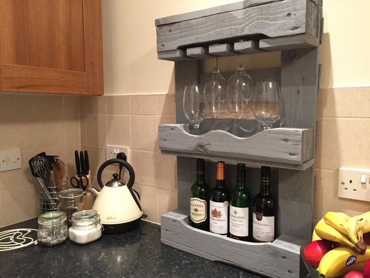 'Oak Aroma' - £60.00. Compact wine rack with Oak finish. Comfortably holding up to 4 bottles with glass storage. Suitable for small to regular size glasses (Large get a bit snug - we've tried) N.B. Wine not included. Contact Emma & Connor to arrange delivery: palletpossessions@gmail.com #winenot #bournemouth #winerack #pallets #recycled #willow #wine #glasses #bournemouth #supportlocal #buyme #palletfurniture #kitchen #upcycled #palletwood #wood