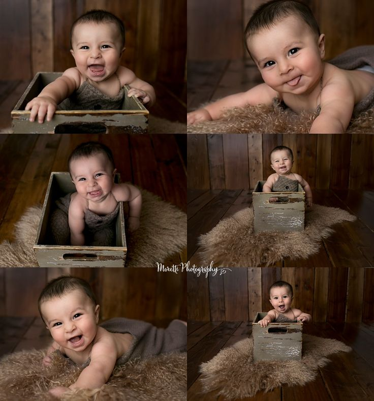 Happy 6 month old baby boy photographed by moretti photography a studio photographer servicing