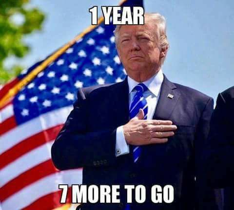 One year and they are already saying he is the best president EVER .