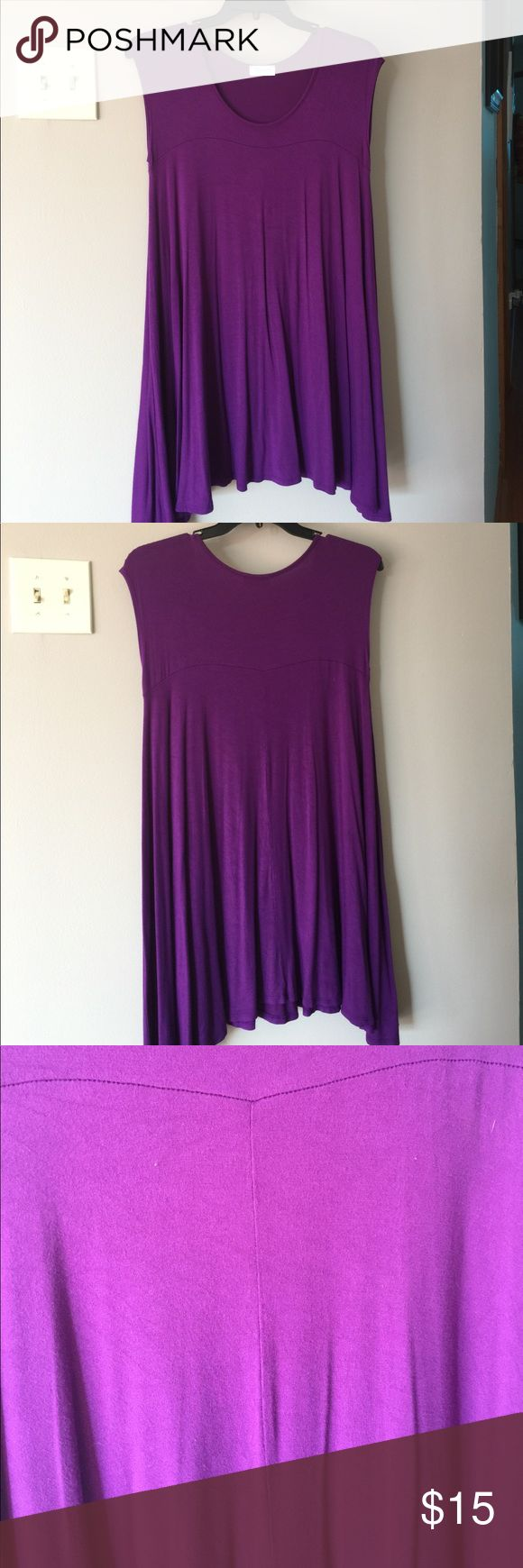 Long tunic that can also be worn as a dress Purple!  Purchased at Palmetto Moon! Excellent condition. Only worn once!! corner Tops Tunics