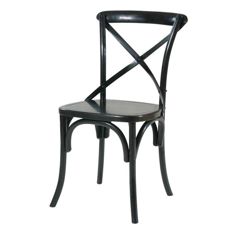 Черный стул в стиле кантри идеально подойдет для кухни или столовой. За счет перекрещенных деталей спинки, плавно изогнутых ножек и элементов каркаса модель даже в темном цвете выглядит легко. В наборе такие изделия смотрятся еще выигрышнее. Стул выполнен из массива натурального дуба, что делает его не только стильным и красивым, но и экологичным.             Метки: Венские стулья, Кухонные стулья.              Материал: Дерево.              Бренд: Этажерка.              Стили: Прованс и…