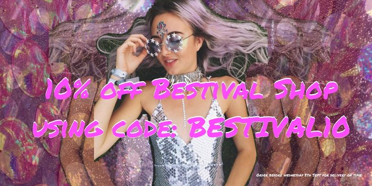 Still after that killer piece for #Bestival look no further with 10% off Shop Bestival now
