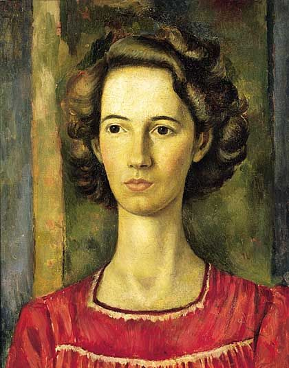 Portrait of Tirzah Garwood (artist and wife of Eric Ravilious), 1944