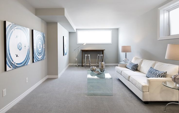 This is the included finished basement in our Marble townhome model in Barrhaven at our Havencrest community.