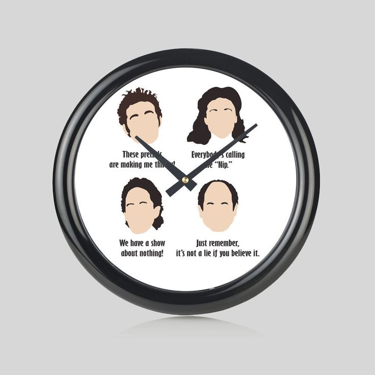 Seinfeld Tv Show Jerry Elaine Kramer George Round Wall Clock Bedroom Home New