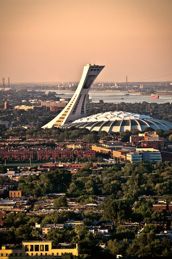 Olympic Stadium,  Stade Olympique  Montreal... I still cant believe i went up that high!