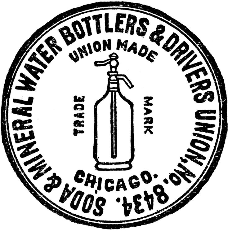 Soda and mineral water label