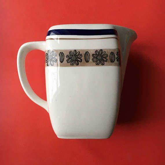 Vintage Gefle Sweden ceramic jug named Orion  1970s