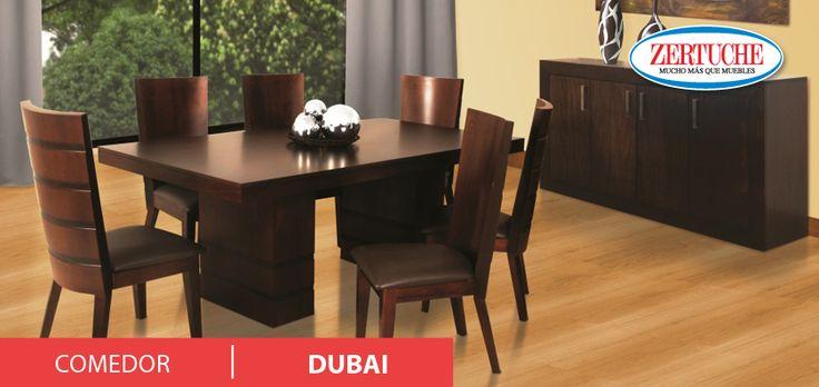 Comedor dubai en estilo moderno en madera y chapa de lamo - Buffet para comedor ...