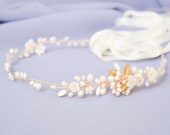 bridal hair vine bridal headpiece wedding hair by NoonOnTheMoon