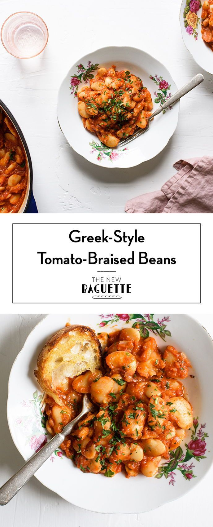 Braised Beans With Tomato Sauce And Oregano