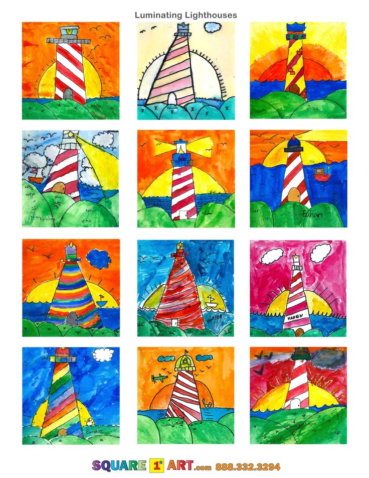 Luminating Lighthouses www.square1art.com/fundraisers #square1art  @Square 1 Art