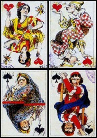 Игральные карты дорожные. 1870-е