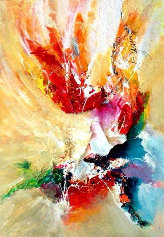A FLOWER FOR MY LOVE 2, Dan Bunea, living abstract paintings
