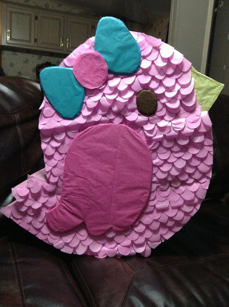 Piñata Creation.. Custom pink little bird piñata
