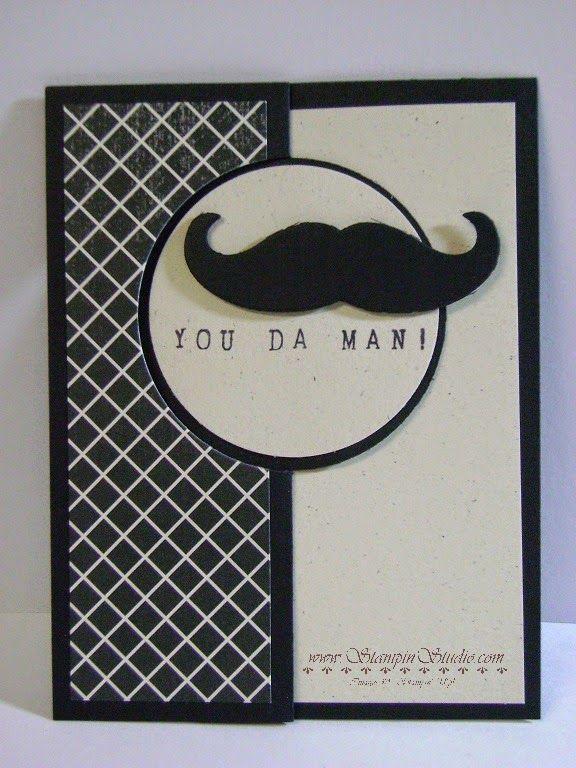 Stampin' Studio, Stampin' Up! Mustache Framelit, Alphabet Rotary Stamp, Flashback DSP, Circle Card Framelit