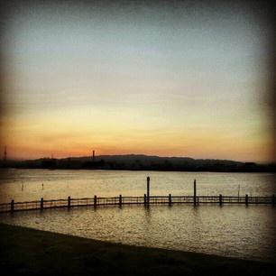 夕焼けの淀川