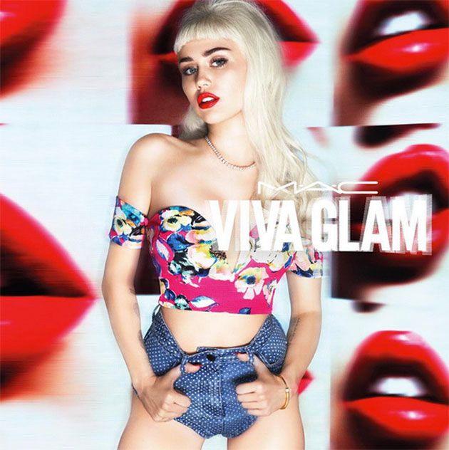 Duas vezes Miley Cyrus pra Viva Glam da M.A.C