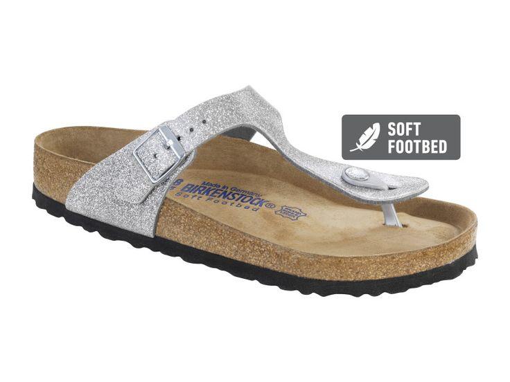 Birkenstock Gizeh Birko-Flor in Magic Galaxy Silver (Soft Footbed)