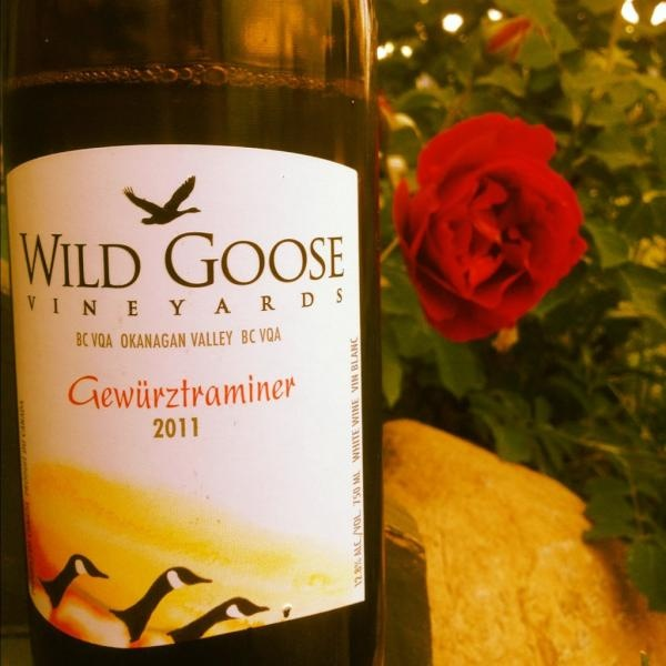 Wild Goose Gewurztraminer. Yum.