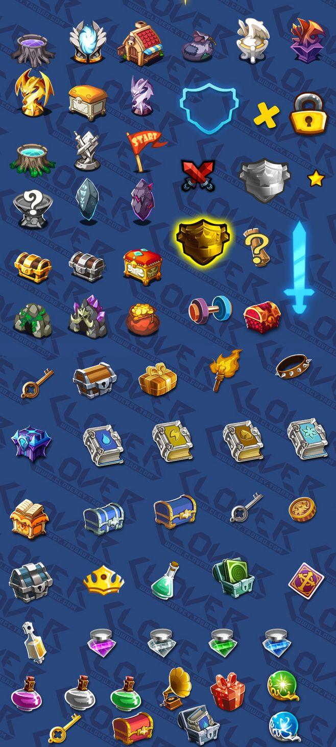 游戏美术资源/ICON图标素材 UI设计 卡通风格Q版游戏图标PNG透明-淘宝网