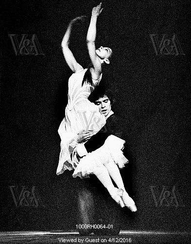 Rudolf Nureyev and Margot Fonteyn in Don Juan at the Royal Opera House, photo Anthony Crickmay. London, England, 1975