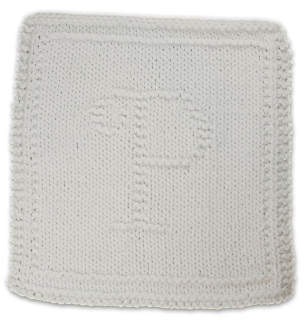 Knitted Dishcloth Pattern With Letters : Monogrammed Dishcloth Letter P pattern by Heather Kate ...