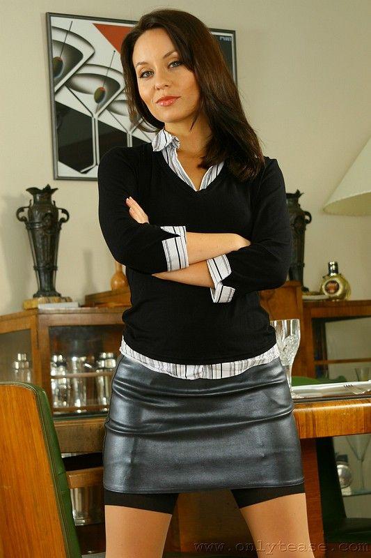 Leather Mistress Mini Skirt