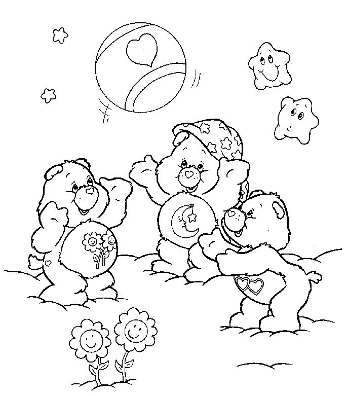emo bear coloring pages | 17 Best images about Care Bears on Pinterest | Cartoon ...