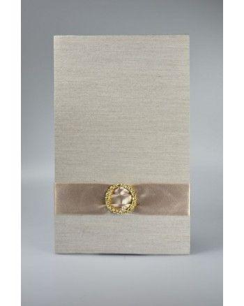 Uitnodiging kaarthouder met ornament (Medium) Zijde portfolio s