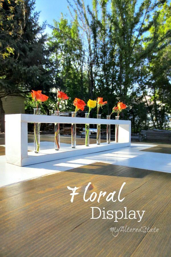 DIY Wood Floral Display