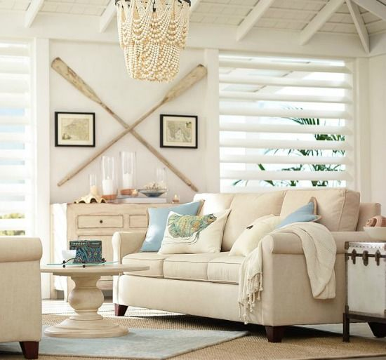 Coastal Home Decor In The Living Room
