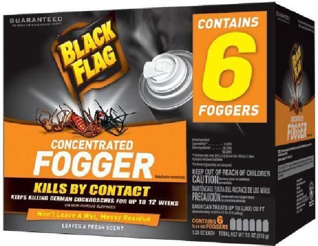 6 Pcs Bug Bomb Indoor Pest Control Fogger Kill Cockroach Insects Kill on Contact #BlackFlag